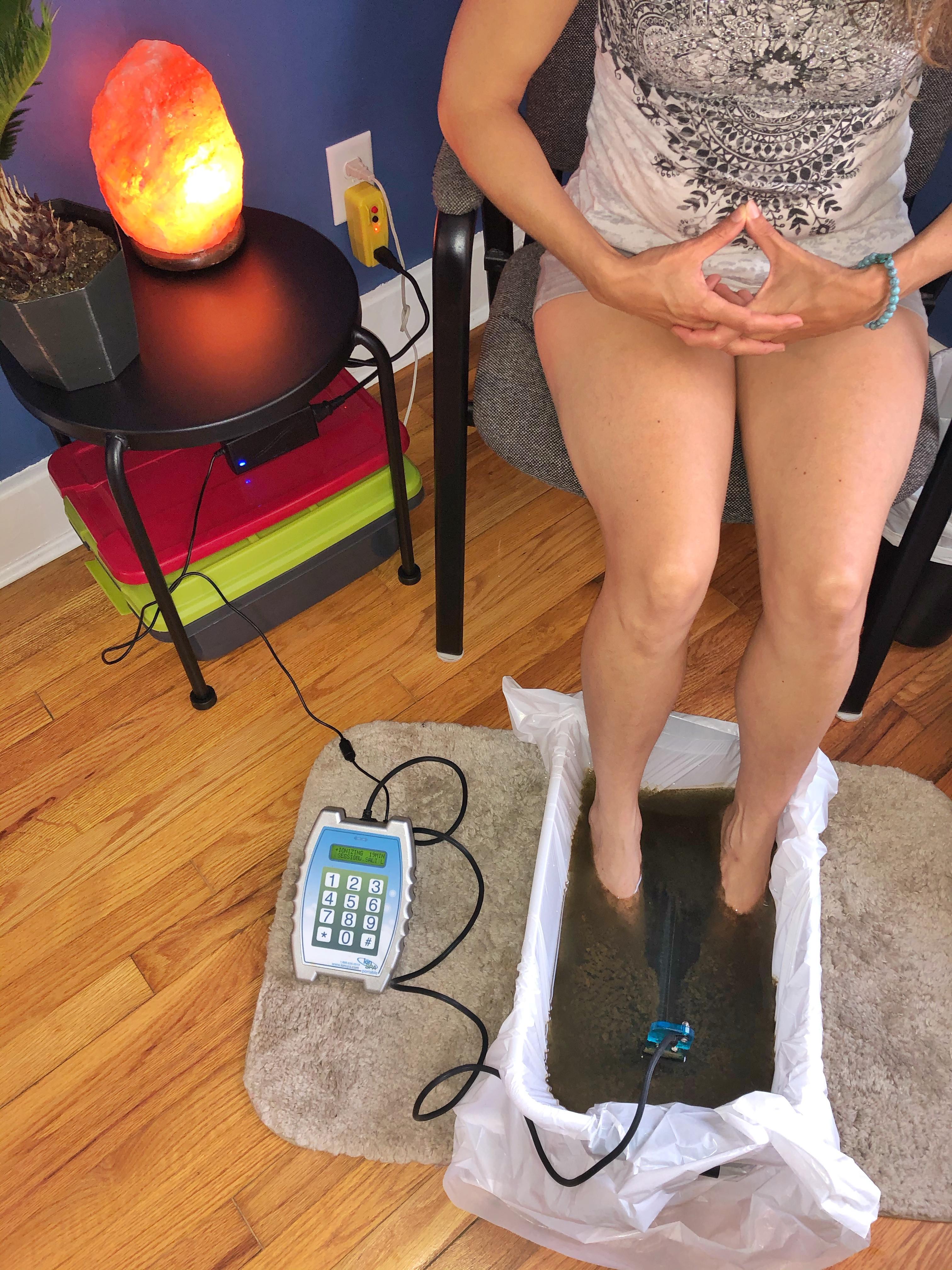 Ionic Foot Bath Session