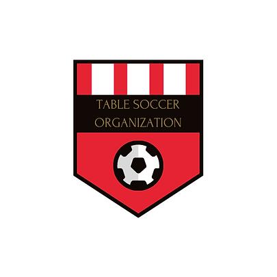 Rosso e Nero Russo Squadra di Calcio Log