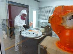 Pintura y reparación de turbinas