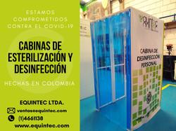 Cabina de esterilización