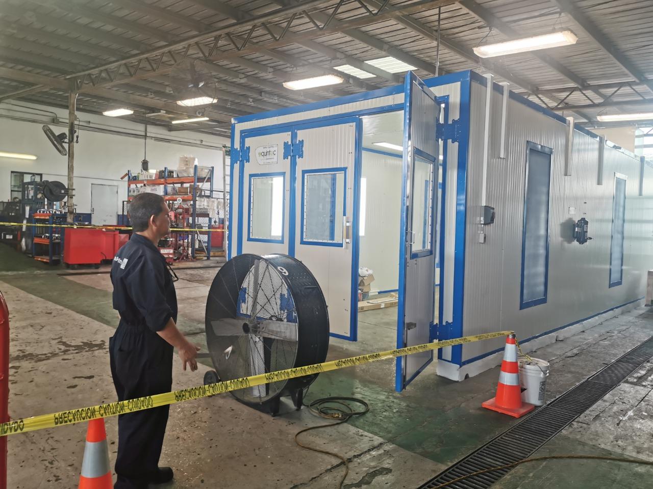 Cabina de pintura aeronautica