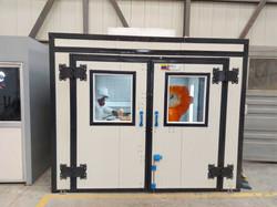 Cabina de pintura para turbinas