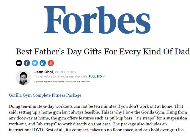 Gorilla Gym, Forbes