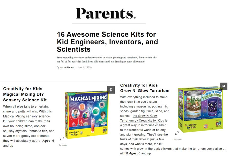 FCUSA CFK, Parents Magazine