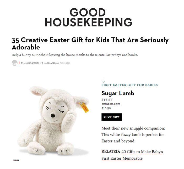 Good Housekeeping Steiff February 2020