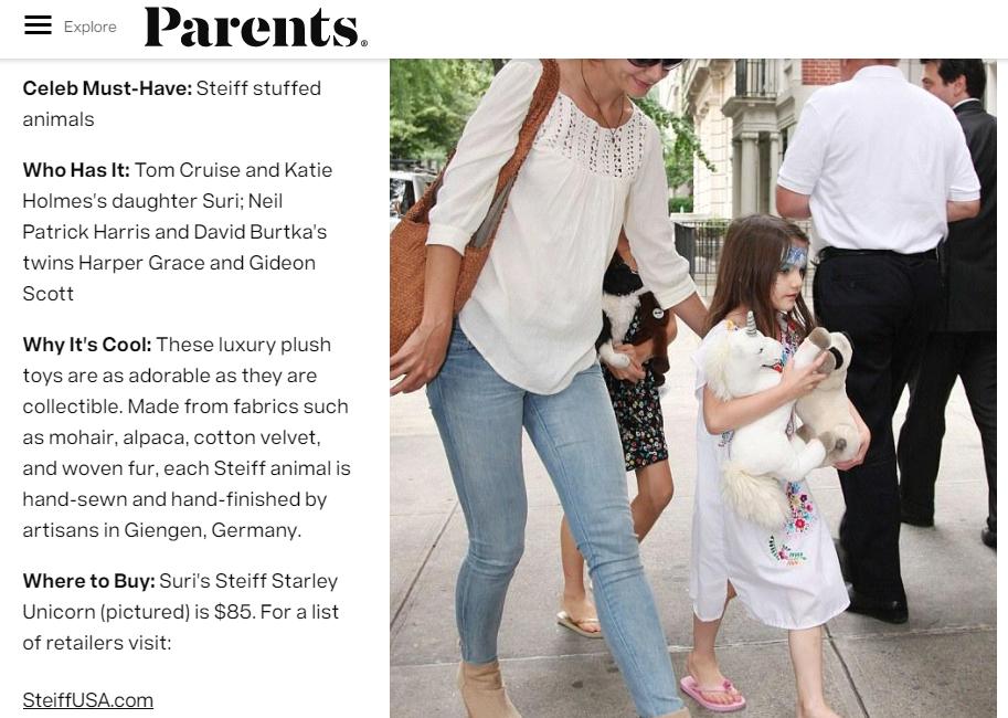 Steiff, Parents Magazine
