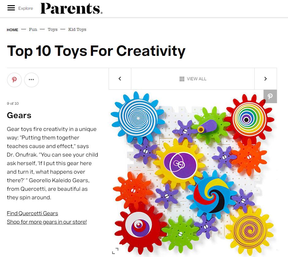 Quercetti, Parents Magazine