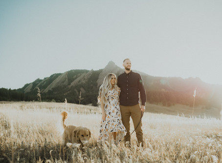 Sunset Couple's Session at Chautauqua Park