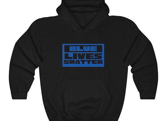 Unisex Blue Lives Shatter Hoodie