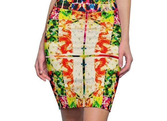 Tie Dye Pencil Skirt
