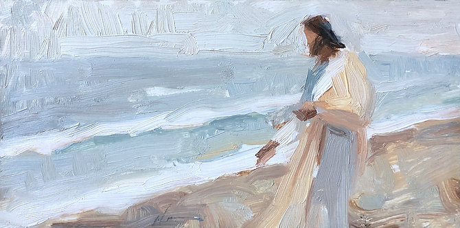 Calm near the waves