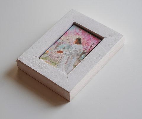 White frame for mini painting