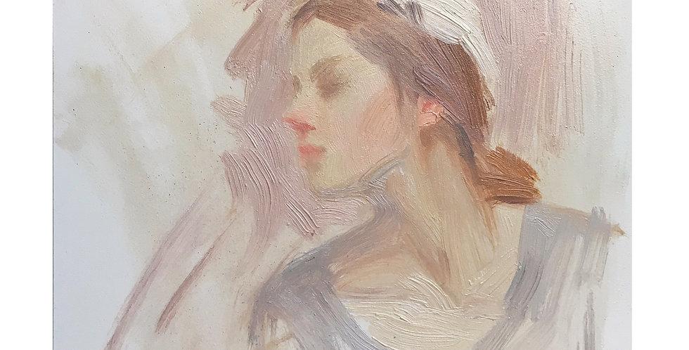 "High key Oil painting 6x6"" by Jen Tolman"