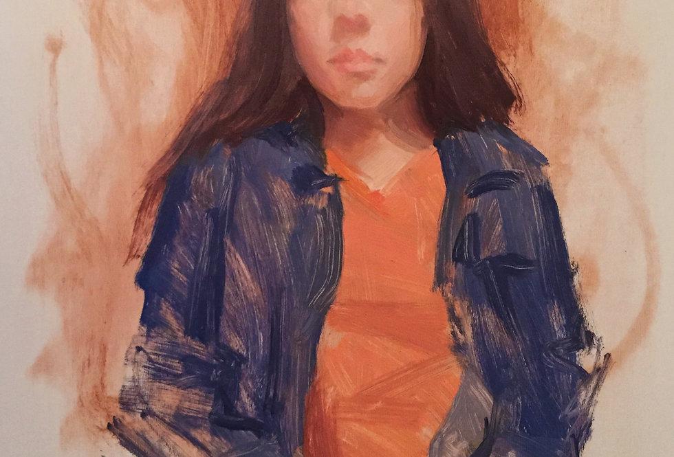 Little lady in orange