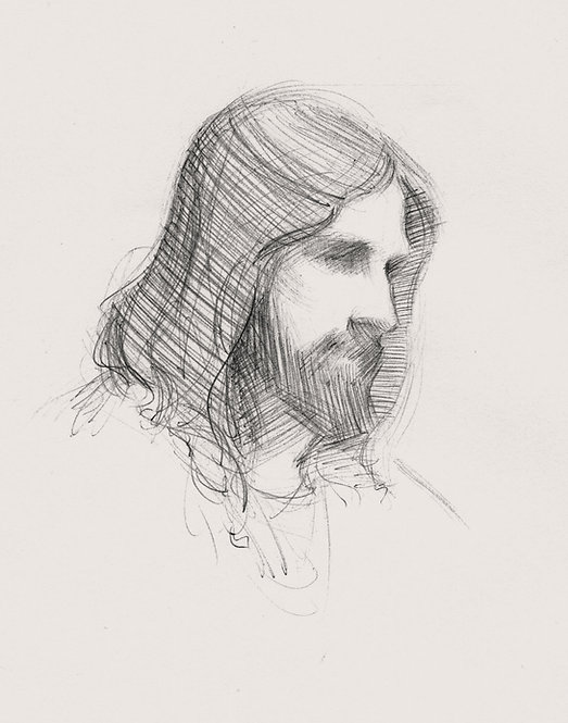 Pen and Ink sketch of Christ
