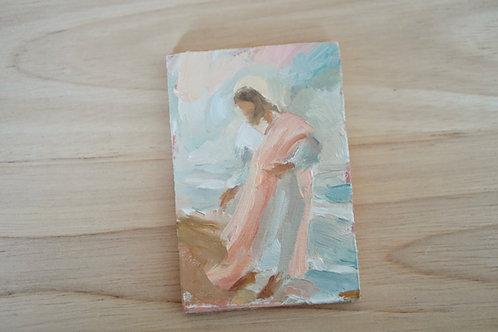 Jesus on the shoreline