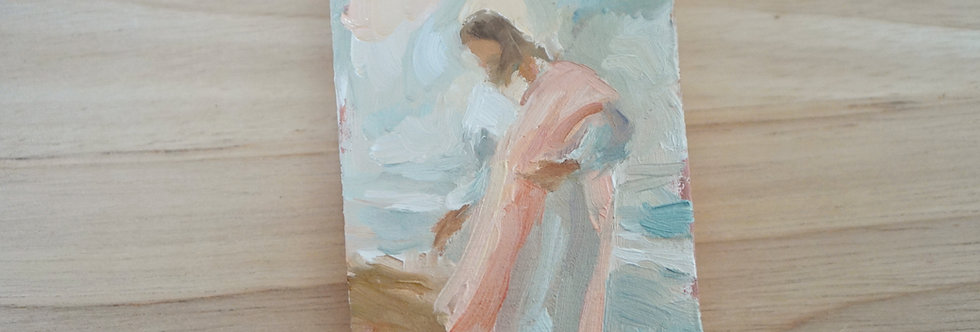 Jesus on the shoreline