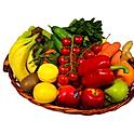 Obst - Gemüsekorb 8 Kg - Bananen, Äpfel, Birnen + 3 Saisonfrüchte
