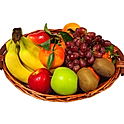 Obstkorb 3 Kg - Bananen, Äpfel und Birnen + 3  Saisonfrüchte