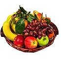 Obstkorb 5 Kg - Bananen, Äpfel und Birnen + 3  Saisonfrüchte