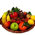 Obst - Gemüsekorb 3 Kg - Bananen, Äpfel, Birnen + 3 Saisonfrüchte