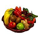 Obst - Gemüsekorb 5 Kg - Bananen, Äpfel, Birnen + 3 Saisonfrüchte