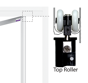top hung toilet bifold door roller