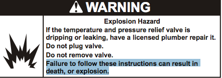 Explosion Hazard