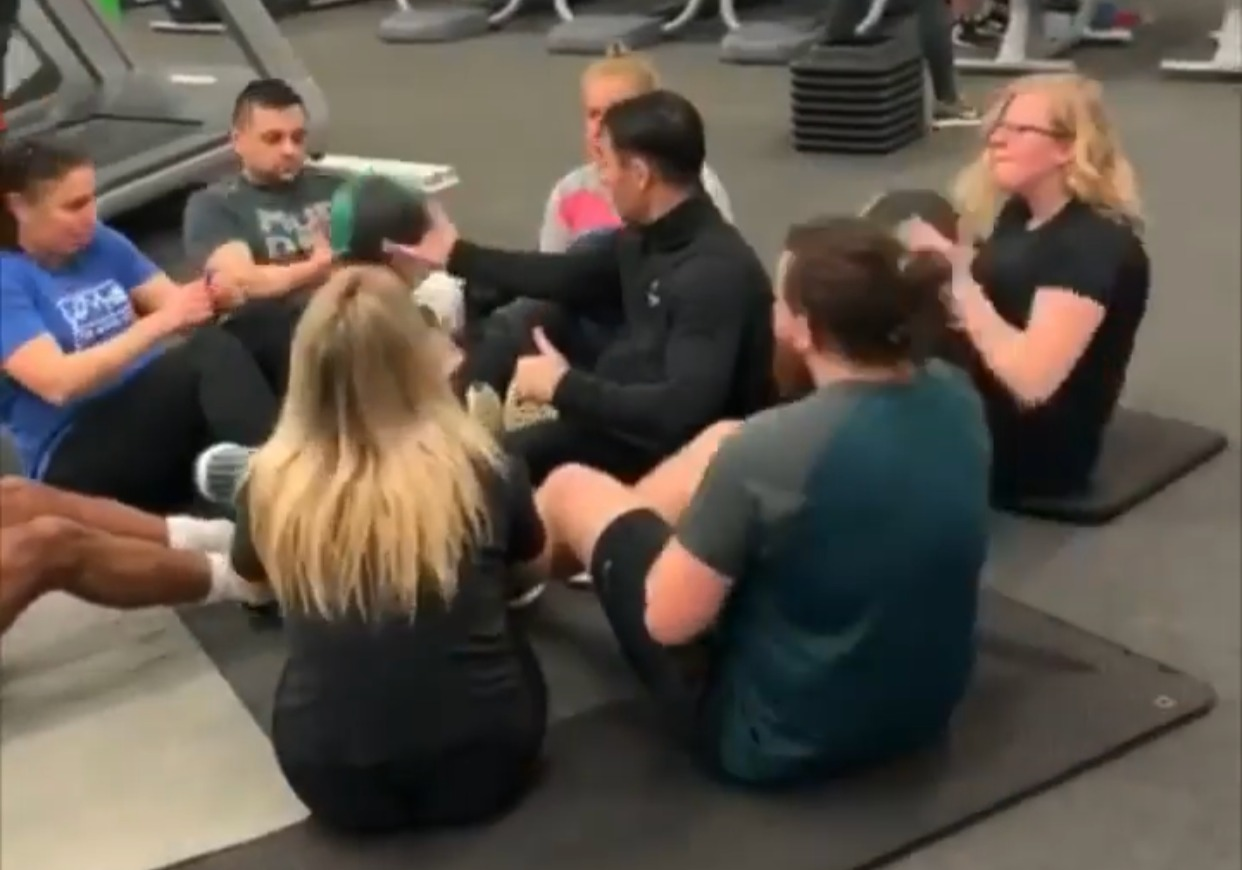 Weight loss group training