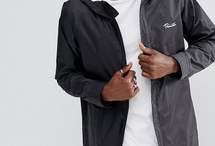 Corta Vento Primitive Rain Breaker Jacket - Black