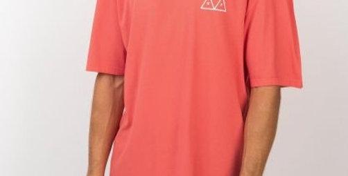 Camiseta HUF Triple Triangle - Coral