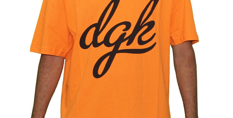 Camiseta DGK SCRIPT - Orange