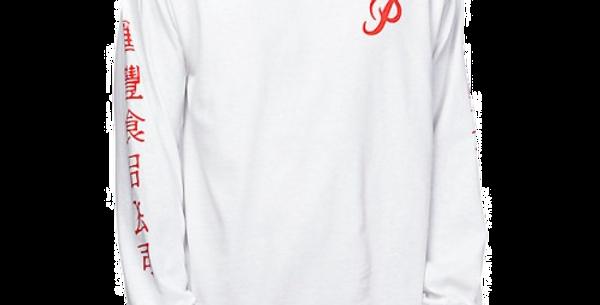 Camiseta Long Sleeve Primitive X Huy Fong Foods - White
