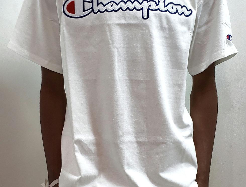 Camiseta Champion Classic Graphic Patch Logo Tee - White