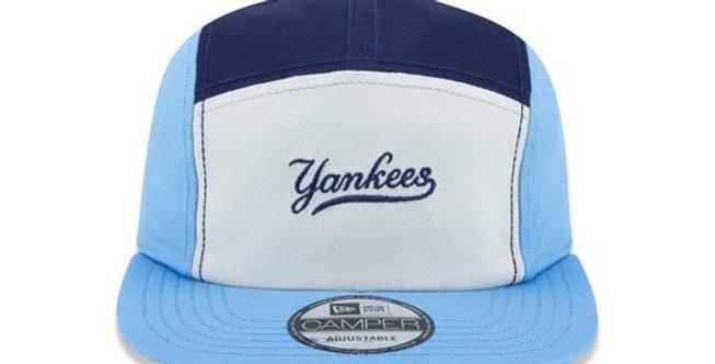 Boné New Era Camper MLB Yankees 5Panel Strapback Hat - Blue
