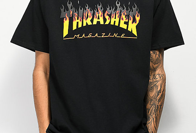 Camiseta Thrasher BBQ - Black