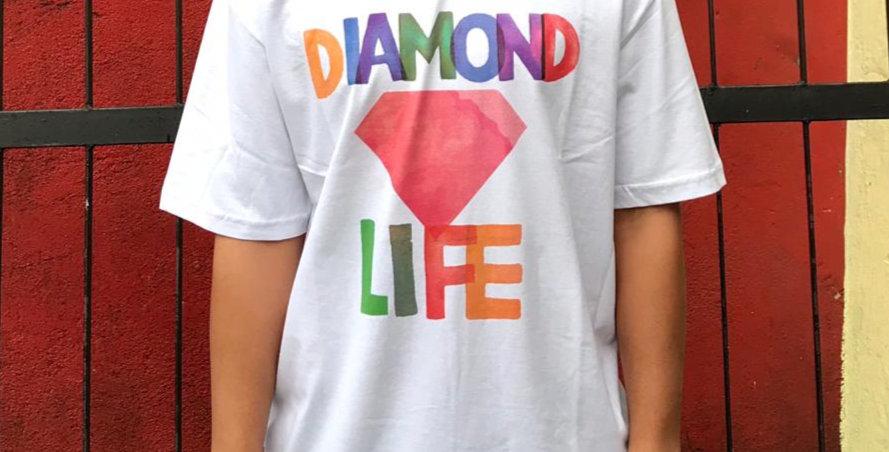 Camiseta Diamond Watercolor Tee - White