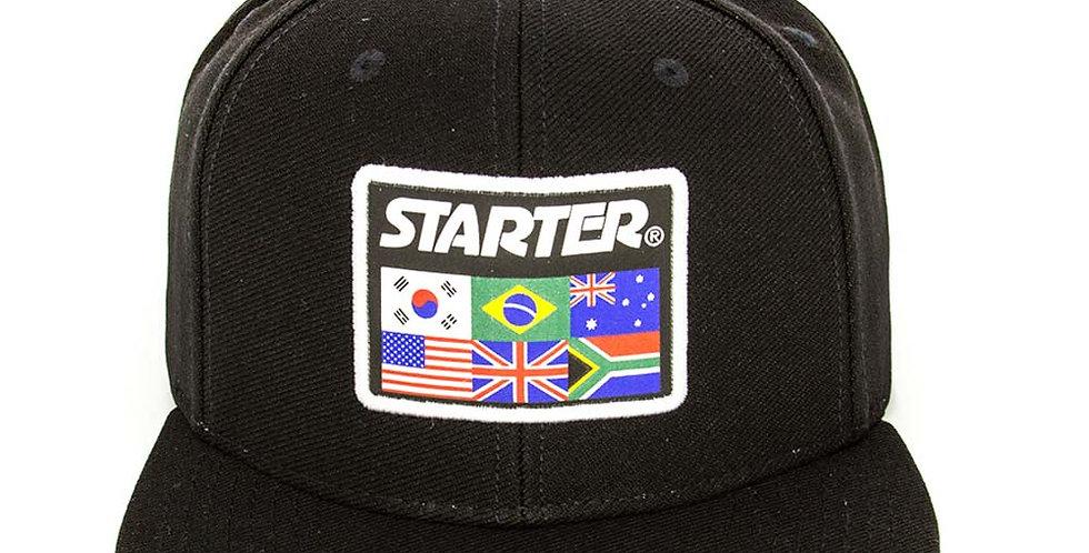 Boné Starter Flags Snapback - Black