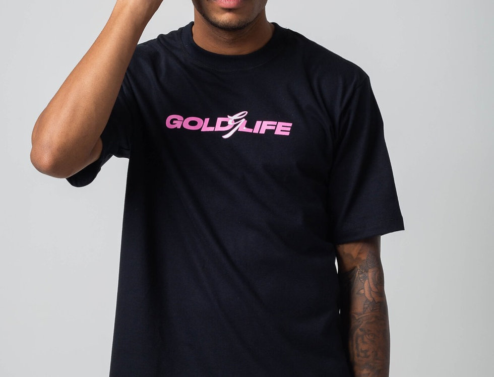 Camiseta Gold Life Tribal Flames G - Black