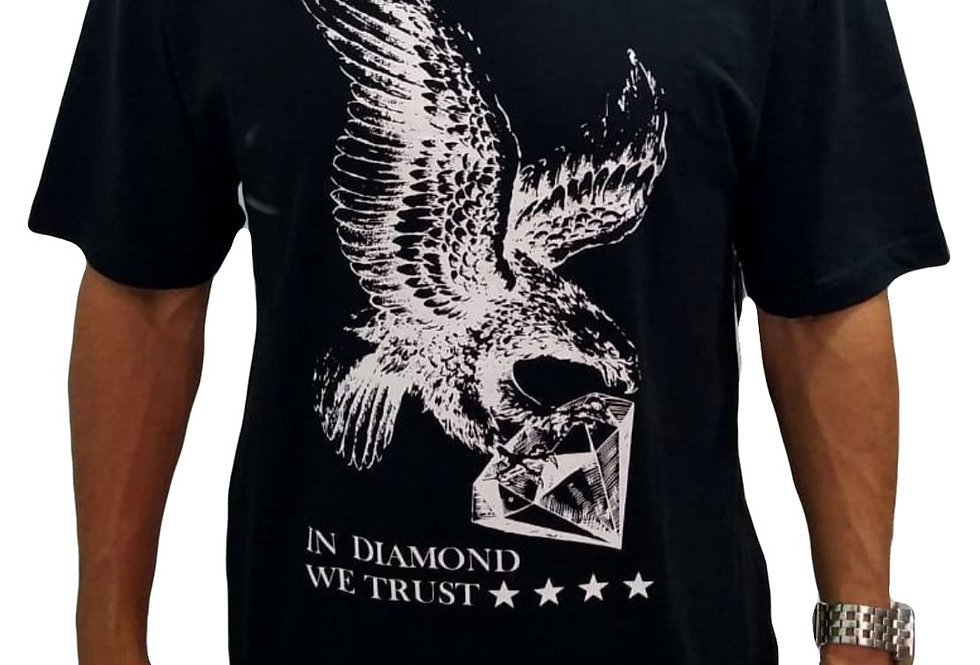 Camiseta Diamond We Trust - Black