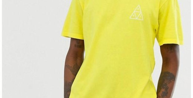 Camiseta HUF Triple Triangle - Yellow