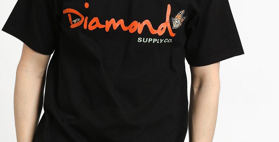 Camiseta Diamond Paradise OG Script - Black