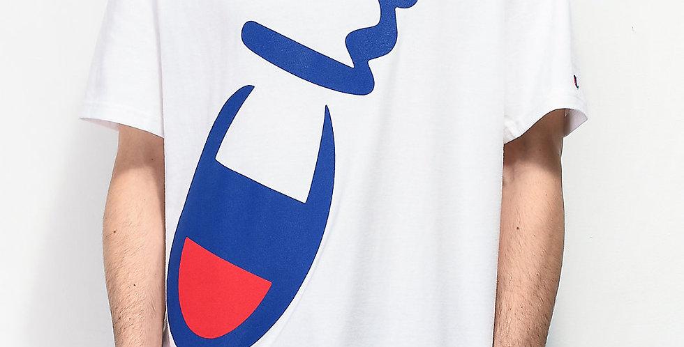 Camiseta Champion Heritage Diagonal Logo - White