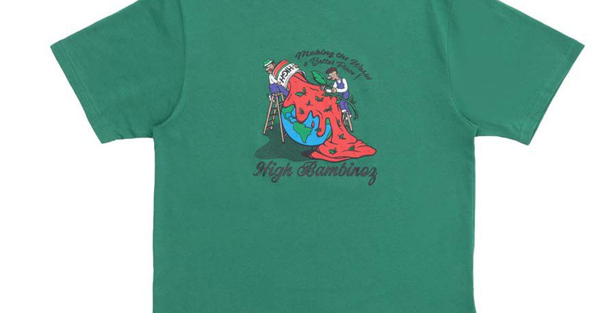 Camiseta HIGH Tee Bambinoz - Green