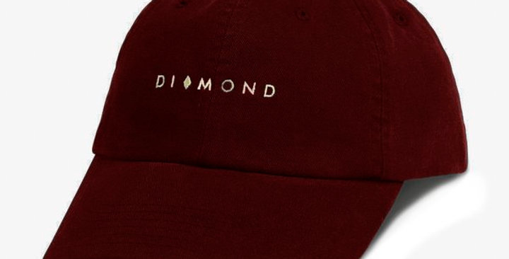 Boné Diamond Marquise Sports Dad Hat Strapback- Burgundy