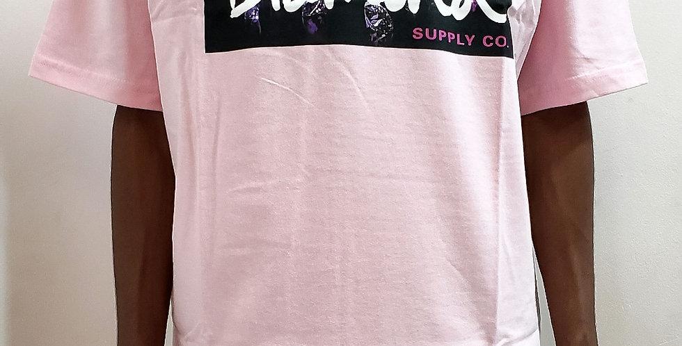 Camiseta Diamond Color Box Logo Tee - Pink