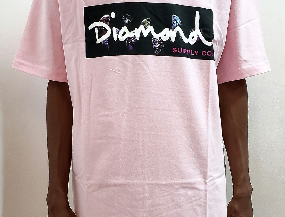 Camiseta Diamond Color Box Logo Tee - Pink