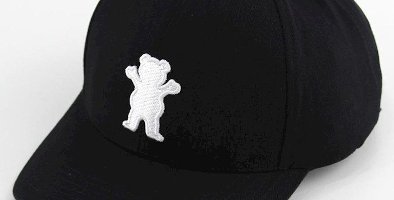 Boné Grizzly OG Bear Baseball Six Panel Snapback- Black