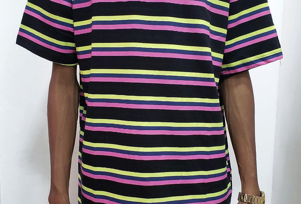 Camiseta Starter Striped Neon - Black