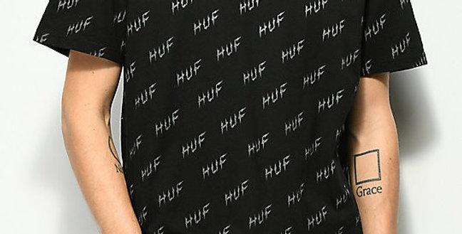 Camiseta HUF Especial Bolt All Over - Black